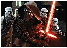 Fototapete Star Wars The Force weckt Kinder Raum Wand Wandbild (2739ve), 152cm x 104cm (WxH)