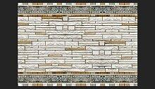 Fototapete Stein-Mosaik 245 cm x 350 cm East Urban
