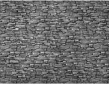 Fototapete Steinwand 3D Effekt Grau Vlies Wand