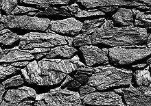 Fototapete Steinwand Canyon Berge grau 360 cm x