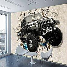 Fototapete Stereo Auto Moderne Wandbild Tapete 3D