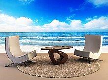 Fototapete Strand Meer Landschaft 3D Tapete