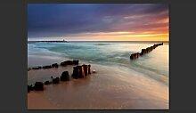 Fototapete Strand - Sonnenaufgang 154 cm x 200 cm