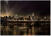 Fototapete Sturm über New York City East Urban