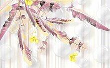 Fototapete Tapete 3D Abstrakte Runde Kugel Rosa