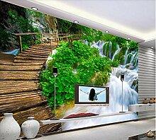 Fototapete Tapete 3D Diy Kleine Brücke Für Büro
