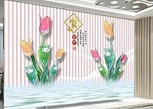 Fototapete Tapete 3D Edle Geprägte Tulpenblüten