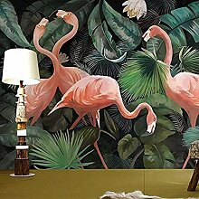 Fototapete Tapete 3d Effekt Flamingo- Handgemalte