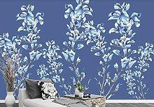 Fototapete Tapete 3D Einfaches Blaues Elegantes