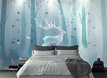 Fototapete Tapete 3D Fantasie Abstrakter Elchwald