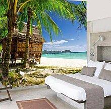 Fototapete Tapete 3D Für Wände 3 D Hd Palm Beach