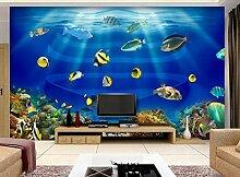 Fototapete Tapete 3D Seeweltbetriebsfische Schön