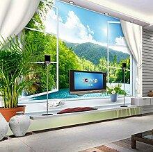 Fototapete Tapete 3D Stereoskopische Fenster