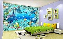 Fototapete Tapete 3D Tapetenwand Unterwasserwelt