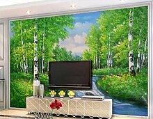 Fototapete Tapete 3D Wandbild Ölgemälde Holz