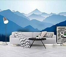 Fototapete Tapete 3D Wandtapete Abstrakter Blauer