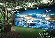 Fototapete Tapete 3D Wandtapete Flugzeugträger