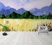 Fototapete Tapete 3D Wandtapete Handgemalte