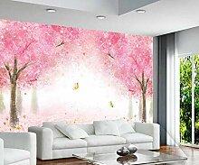 Fototapete Tapete 3D Wandtapete Moderne Rosa