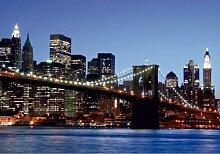 Fototapete Tapete Brooklyn Bridge New York Skyline