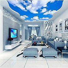 Fototapete Tapete Decke Blauer Himmel Und Weiße
