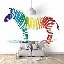 Fototapete Tapete Foto 3D HD Vlies Farbe Zebra DIY
