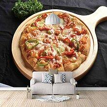 Fototapete Tapete Foto 3D HD Vlies Pizza Essen DIY
