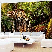 Fototapete Tapete Kinderzimmer Leopard Afrika Wand