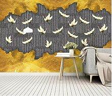 Fototapete - Tapete Moderne Wanddeko Goldener