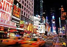 Fototapete Tapete New York Broadway Taxi Yellow