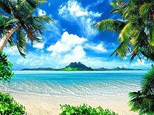 Fototapete Tapete Palmen Insel Meer Strand Poster