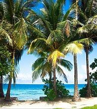 Fototapete Tapete Palmen Insel Strand Meer Foto