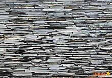 Fototapete Tapete Steinmauer Steine grau Foto 360