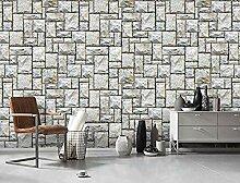 Fototapete Tapete Vintage Steinmauer Tapete Für