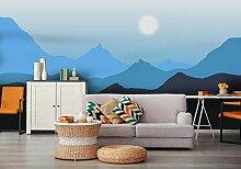 Fototapete Tapete Wand Abstraktes Blaues