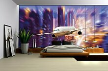 Fototapete Tapete Wandbild Flugzeug 3D Optik 152 P4