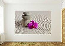 Fototapete Tapete Wandbild Orchidee Sand Spa 146 P4