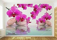 Fototapete Tapete Wandbild Orchidee Wasser 151 P8