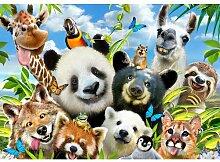 Fototapete Tier-Selfies 1.46 m x 208 cm Happy Larry