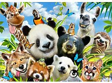 Fototapete Tier-Selfies 2.54 m x 368 cm Happy Larry