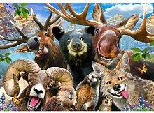 Fototapete Tier-Selfies Papier 1.84 m x 254 cm