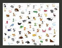 Fototapete Tiere (für Kinder) 193 cm x 250 cm