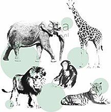 Fototapete Tiere Mintgrün - 158704 - von