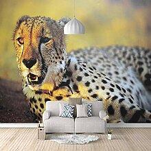 Fototapete Tierischer Gepard Mauer Fresco Foto