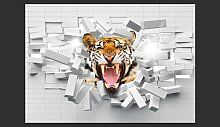 Fototapete Tiger Jump 245 cm x 350 cm East Urban