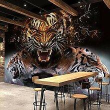 Fototapete Tiger-Plakat 400x280 cm Vlies Tapete
