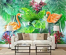 Fototapete Tropische Pflanze Flamingo Grün