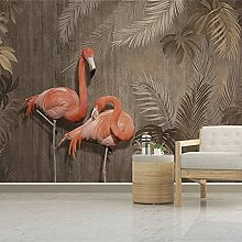 Fototapete Tropische Pflanze Wald Flamingo