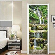 Fototapete Tür Aufkleber Wohnkultur Wasserfall 3D