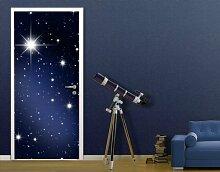 Fototapete Tür Papier No.27 'STARS' 100x210cm Foto Tapeten Weltall Sterne , Größe:210cm x 100cm
